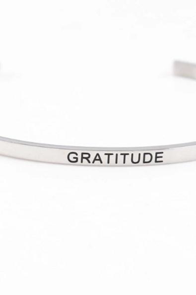 Gratitude Bracelet Cuff