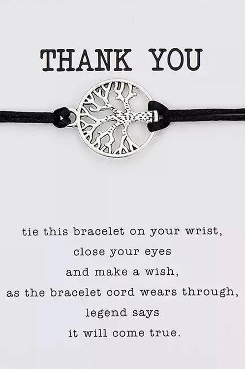 Thank you Tree-Wrist Cord