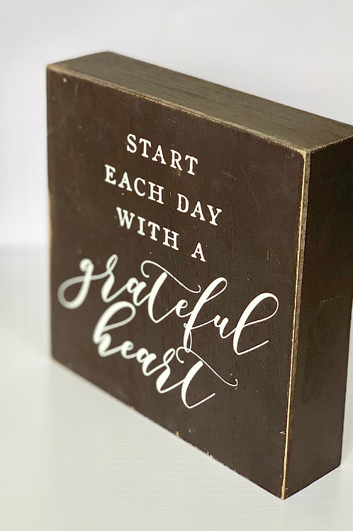 Start Each Day with grateful heart-Wall Decor