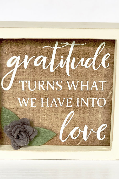 Gratitude into Love Frame