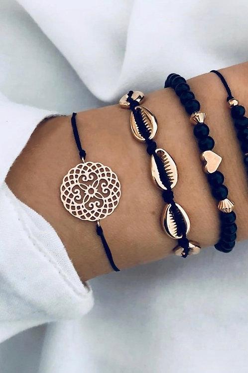 Black Girl Magic Bracelet Set