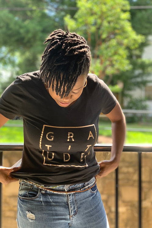 Space of Gratitude Square Signature T-Shirt