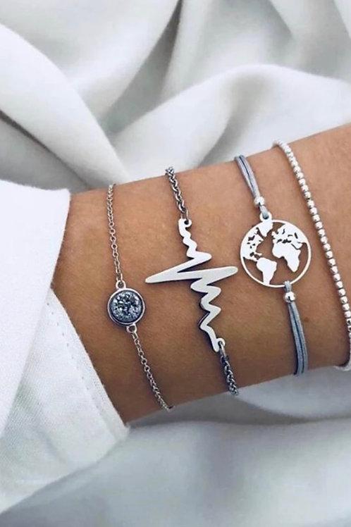 World Pulse Bracelet Set