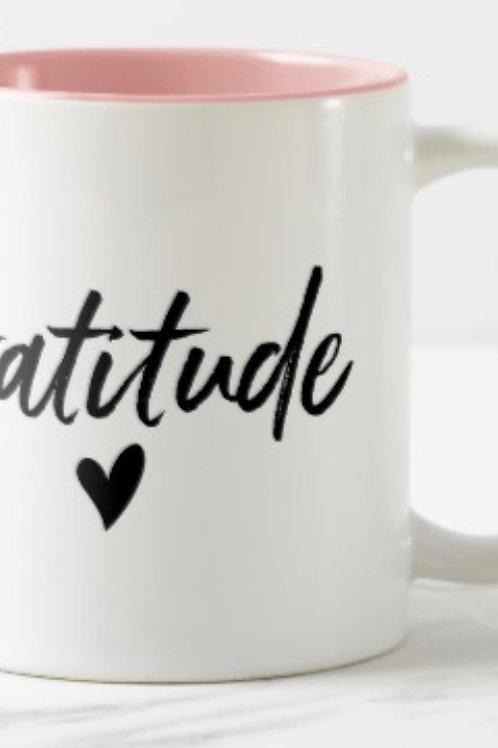 Pink Gratitude Mug