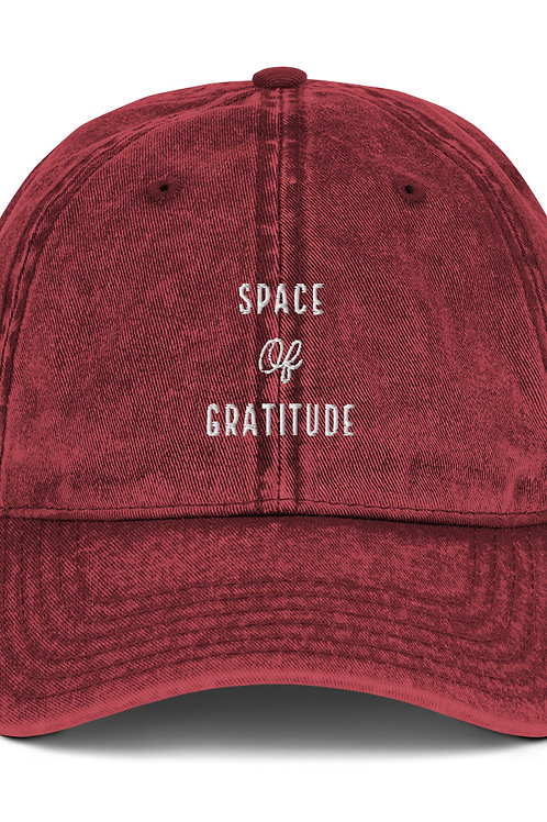 Space of Gratitude Vintage Cap