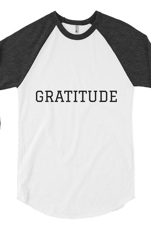 Gratitude Raglan shirt