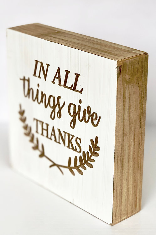 IN ALL things give THANKS-Wall decor
