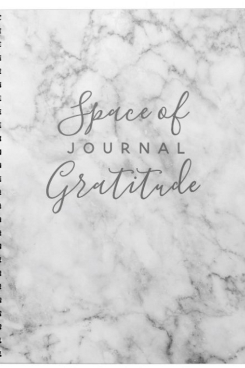 Space of Gratitude Marble Notebook