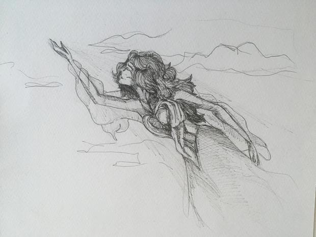 """Илюстрация към книга """"Разкажи ми за любов"""""""