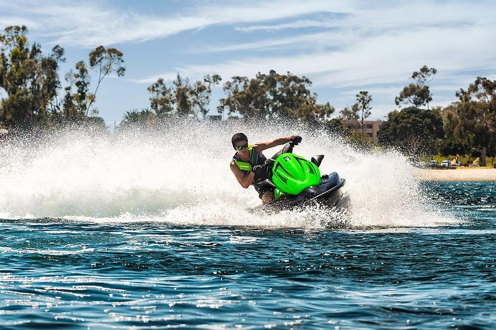 Person using jet ski