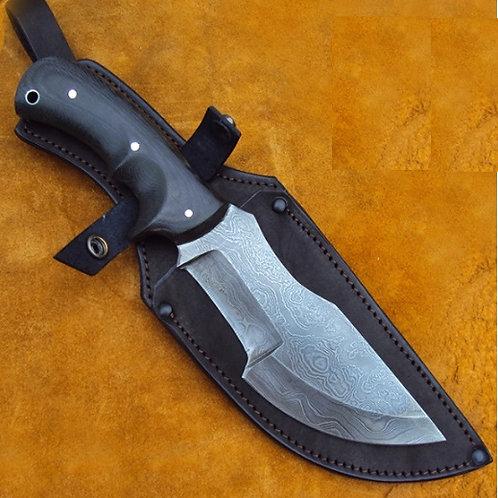 """Нож """"Трекер"""" цельнометаллический дамасская сталь"""