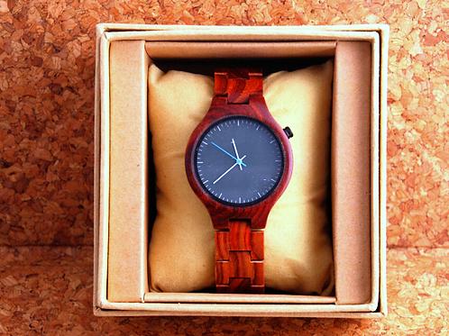 Деревянные наручные часы  Красный сандал