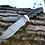 """Thumbnail: Дамасский нож """"Леший"""" с литьем из мельхиора"""