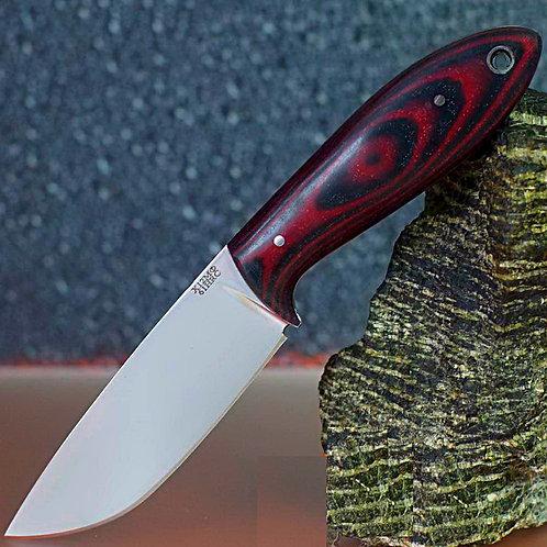 """Кованый нож """"ПОПУТЧИК"""" цельнометаллический (бардовый, серый, зеленый)."""