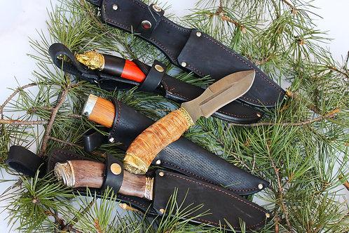 Нож Каратель с рукоятью из карельской березы