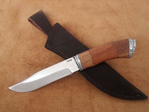 """Нож """"Аргонавт-2"""" ков. сталь с литьем из мельхиора"""