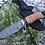 """Thumbnail: Кованый нож """"ВЕПРЬ"""" из дамасской стали."""