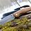 """Thumbnail: Нож складной """"АЗИАТ"""" с клинком из дамасской стали."""