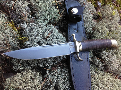 Нож Финка НКВД из стали 95х18  с рукоятью из кожи