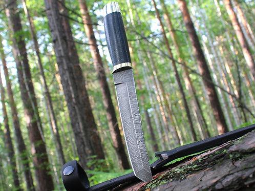 Кованый нож «ТАНТО» из дамасской стали