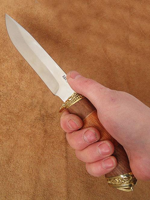 """Кованый нож """"Лань"""" с литьем из латуни"""