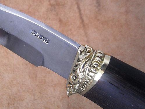 """Кованый нож """"Орлан"""" с литьем из латуни"""