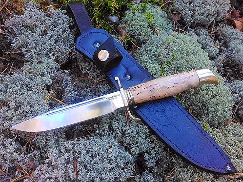 Нож Финка НКВД из стали 95х18 с рукоятью из карельской березы»