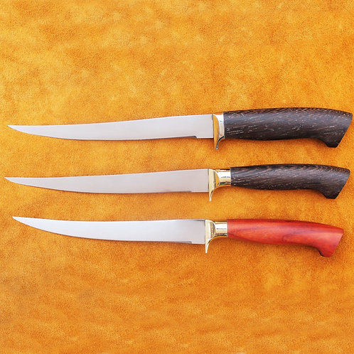 Нож ФИЛЕЙНЫЙ из стали 95Х18 с гардой из мельхиора