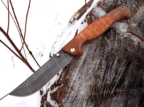 """Нож складной """"СТРАЖ"""" с клинком из дамасской стали"""