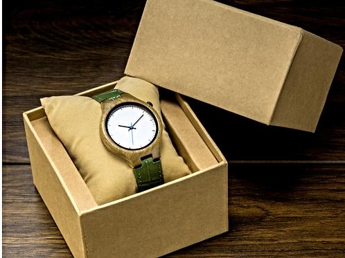"""Деревянные наручные часы """"Зеленый сандал"""""""