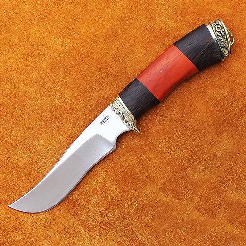 """Кованый нож """"Феникс"""" с литьем из латуни"""