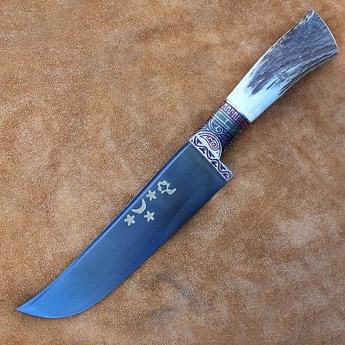 """Нож """"Пчак"""" рукоять из рога оленя"""