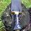 "Thumbnail: Нож ""УДАР"" с литьём из латуни с долами на клинк"