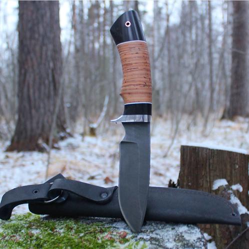 """Кованый нож """"ВЕПРЬ"""" из дамасской стали."""