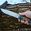 "Thumbnail: Кованый нож ""ЛУЧ"" Кованая сталь Х12МФ"