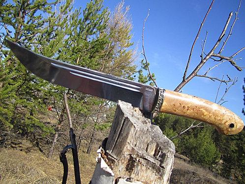 """Нож """"Засапожный"""" из стали 95х18 с рукоятью из карельской березы"""