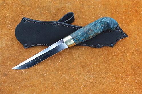 Финский нож ПУУККО рукоять из карельской березы
