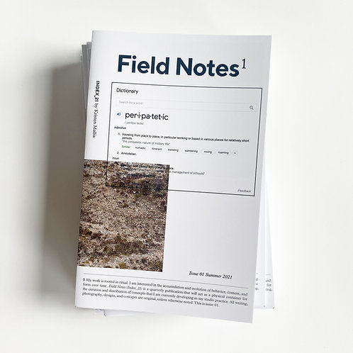 Field Notes (Index_21) — Issue 01