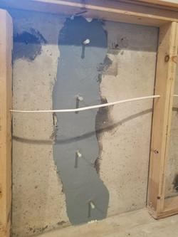 Repaired Foundation Crack