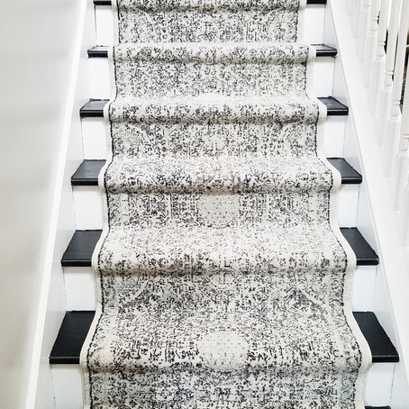 Michelle's DIY Staircase Runner:               A Step-by-Step Guide