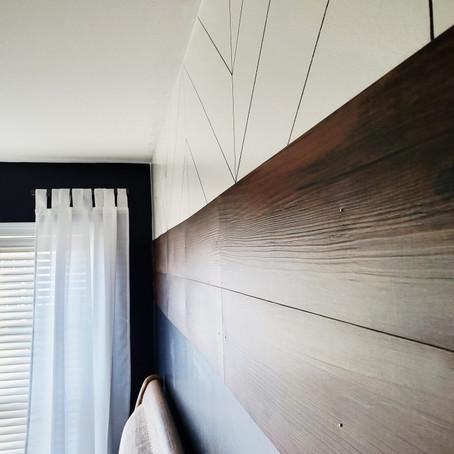 DIY Faux Shiplap Wall for Under $50!