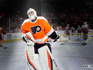 Frese Frame: A Goalie Gets His Chance: Philadelphia Flyers vs. Detroit Red Wings, December 18, 2018