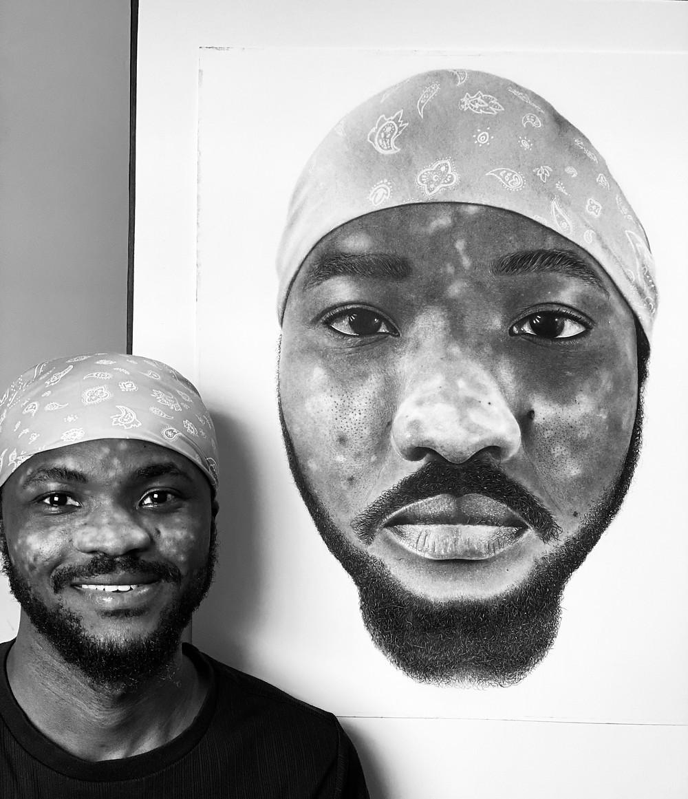 Nigerian Artist,TikTok Pencil drawing, vitiligo