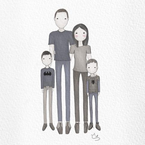 Kirwood Family Illustration