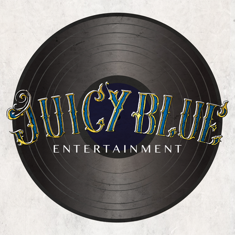 Juicy Blue Lettering