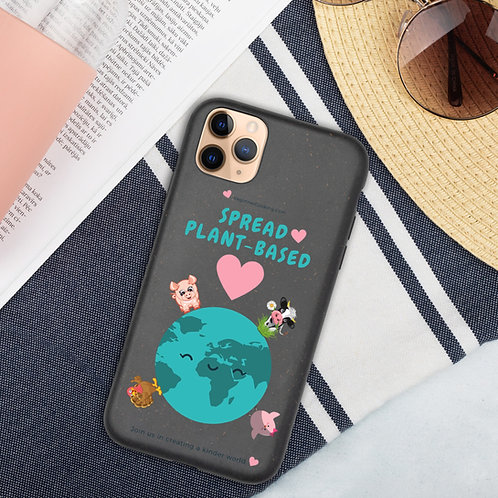 Spread Plant-Based Love ♥ Biodegradable phone case