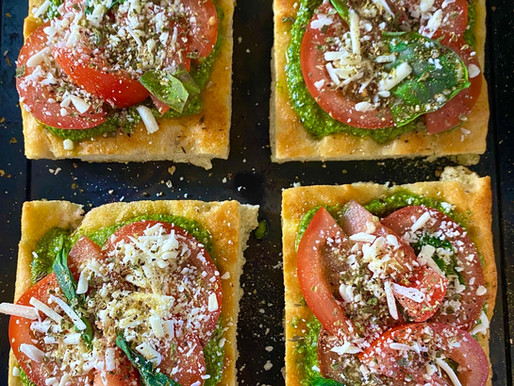 Vegan Pesto Pizza 🍕