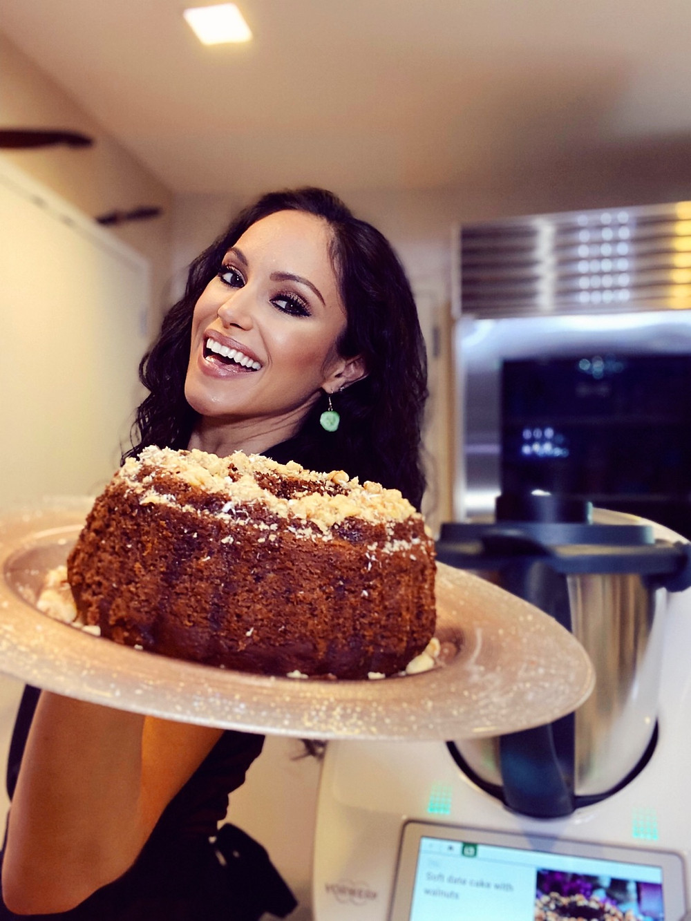 soft date cake vegan dessert plant-based recipes cheryl martinez vegan chef thermomix tm6