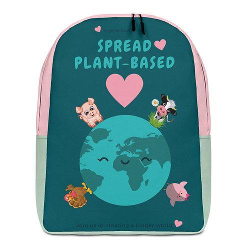 Spread Plant-Based Love ♥ Minimalist Backpack