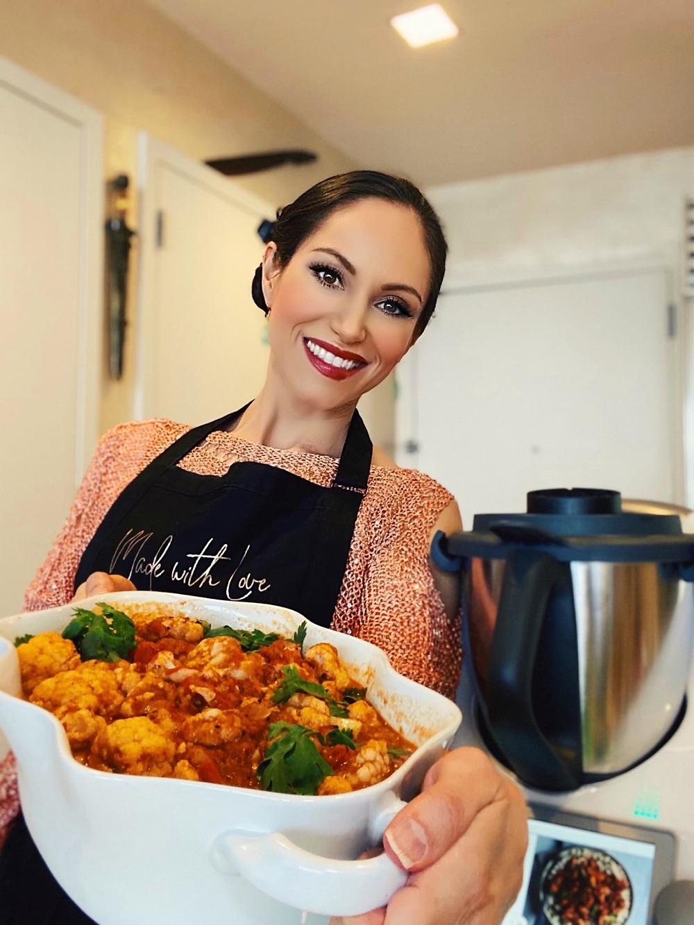 vegan morrocan tagine cauliflower recipe plant-based health coach cheryl martinez thermomix tm6